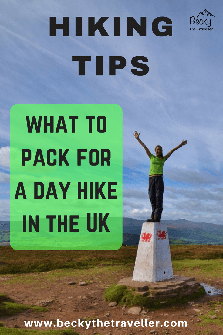 What to pack for a day hike in the UK. The United Kingdom has so many different weather conditions that you might wonder what you should wear and take on your day hikes? Here